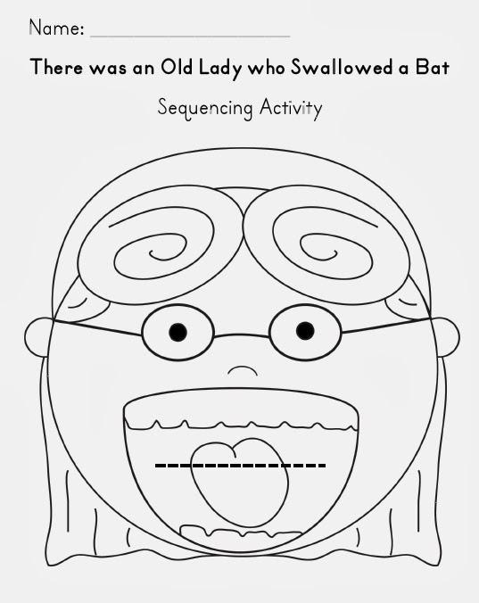 The Old Lady and the Fly Wordsearch: EnchantedLearning.com