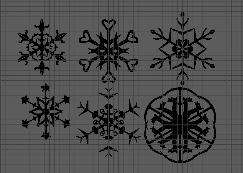 step 1 creating the snowflakes