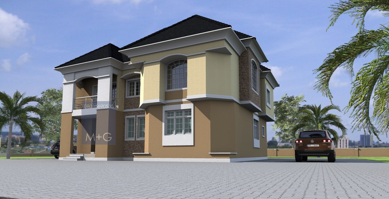 Contemporary nigerian residential architecture luxury 5 for Modern duplex house plans in nigeria