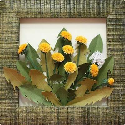 квиллинг, мастер-класс, цветы, одуванчики