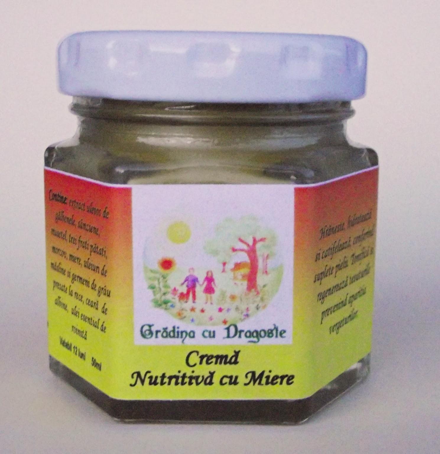 Cremă Nutritivă cu Miere&Roinita -120 ml Formula noua