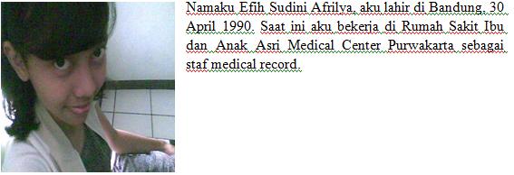 Efih Sudini Afrilya