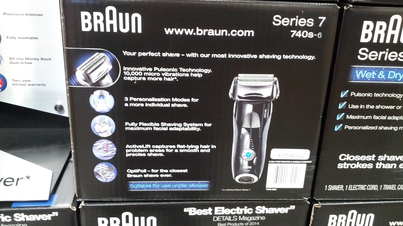 braun series 7 electric shaver 740s 6 costco weekender. Black Bedroom Furniture Sets. Home Design Ideas