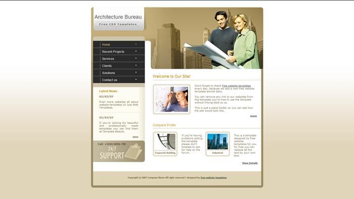 Architecture-bureau CSS Template