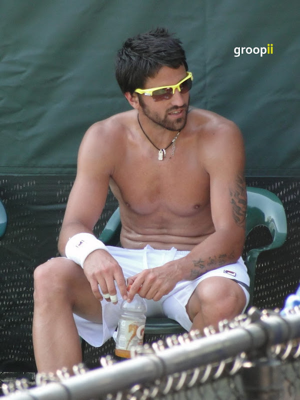 Janko Tipsarevic Shirtless at Miami Open 2011