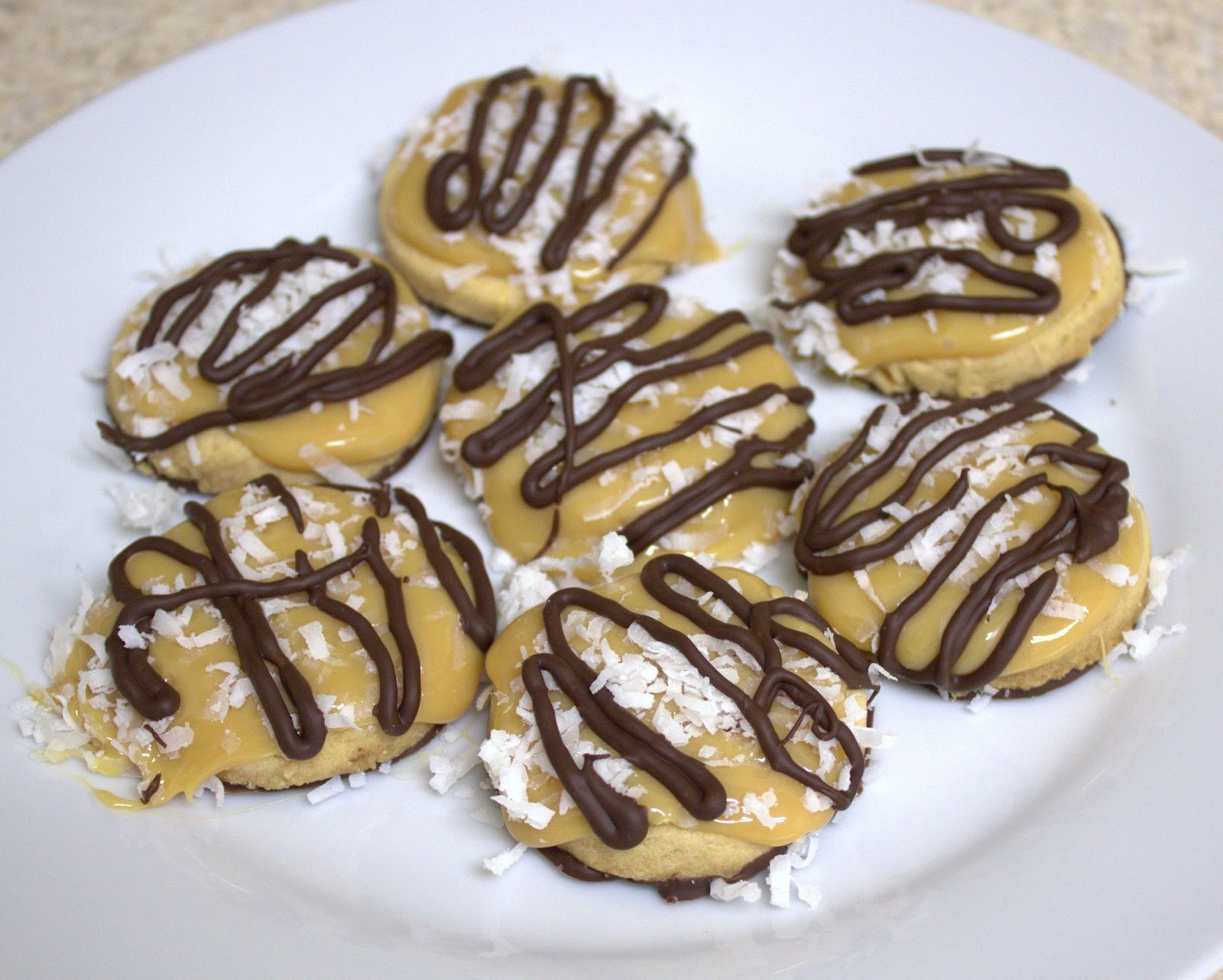 dulce de leche chocolate coconut shortbread