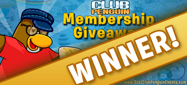 Free Club Penguin Membership Giveaway WINNER
