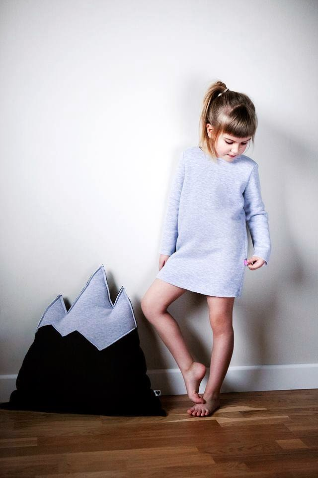 Simple sweatdress by Polish kidswear brand Kujukuju