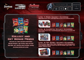 Doritos Assemble the Avengers website screen 3