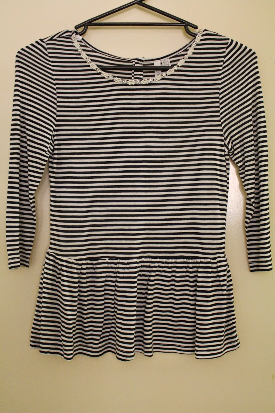 Winter clothing haul 2014, haul, clothing haul, winter haul, long sleeved black top, lace cream top, striped peplum top, black riding boots, black super skinny jeans