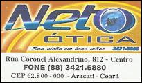 NETO ÓTICA - SUA VISÃO EM BOAS MÃOS. (88) 3421-5880