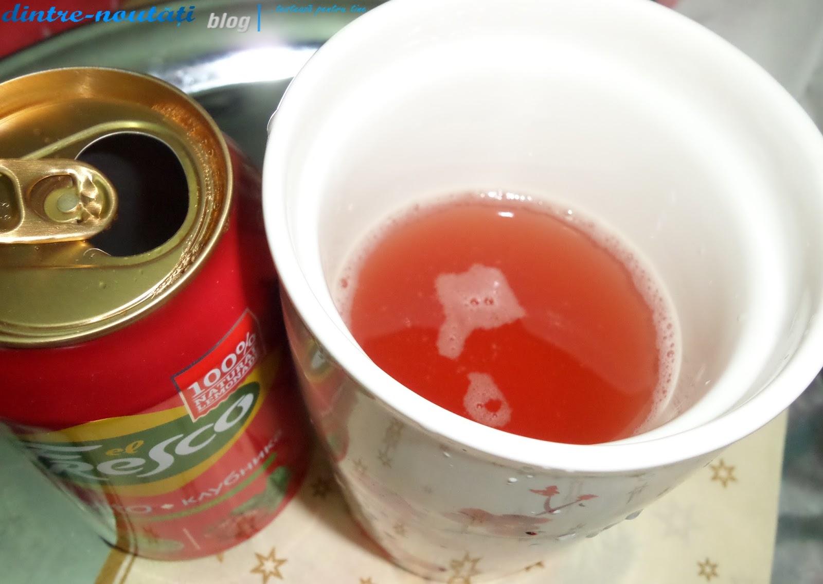 băutură carbogazoasă răcoritoare, aromatizată cu capsuni, mojito, lamaie