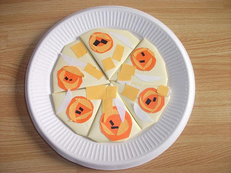 origami food pizza craft preschool education for kids