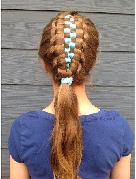 zipper braid updo and video
