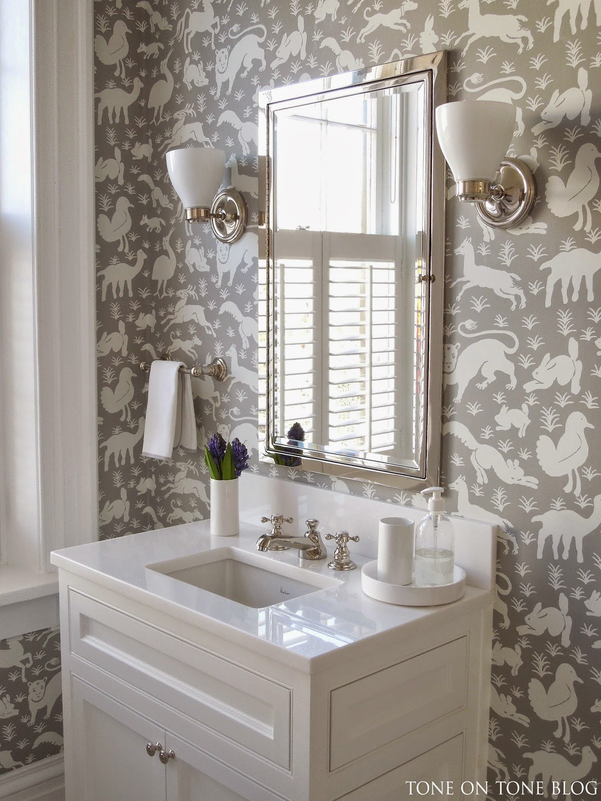 Bathroom Well Look At It Now It 39 S Fun Yet Stylish Wallpaper Is