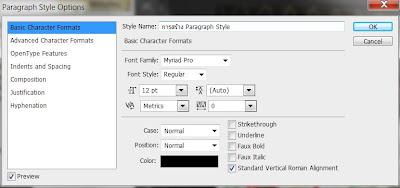 photoshop cs6 : paragraph style option