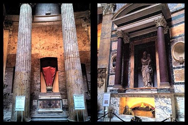 grób Rafaela Santi w Panteonie
