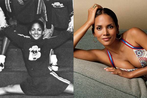 Halle Berry — It looks like Halle Berry had some real team spirit back in high school. I'd make that same joke about how I totally would have dated her when I was in high school, but she's so gorgeous that I feel like I would be insulting cosmic forces beyond my control to even kid about it.