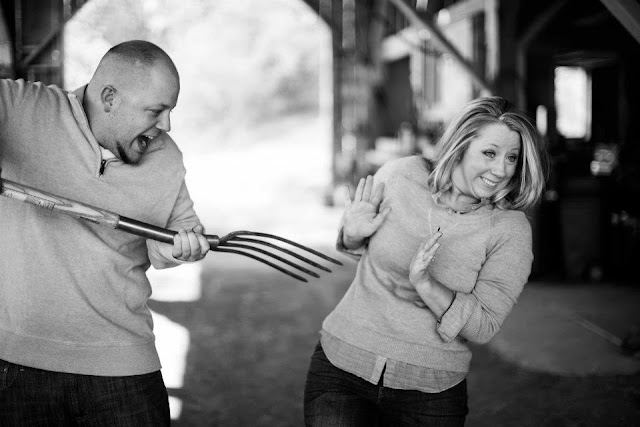 Silly Engagement Photo