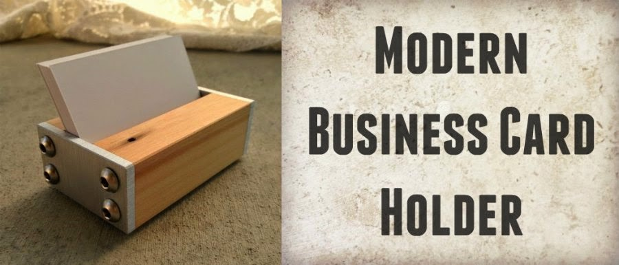 modern business card holder