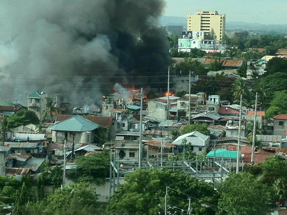 There is a fire at Cabantan Cebu, Philippines. The official number of