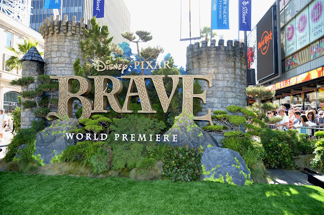 red carpet premiere, brave, disney