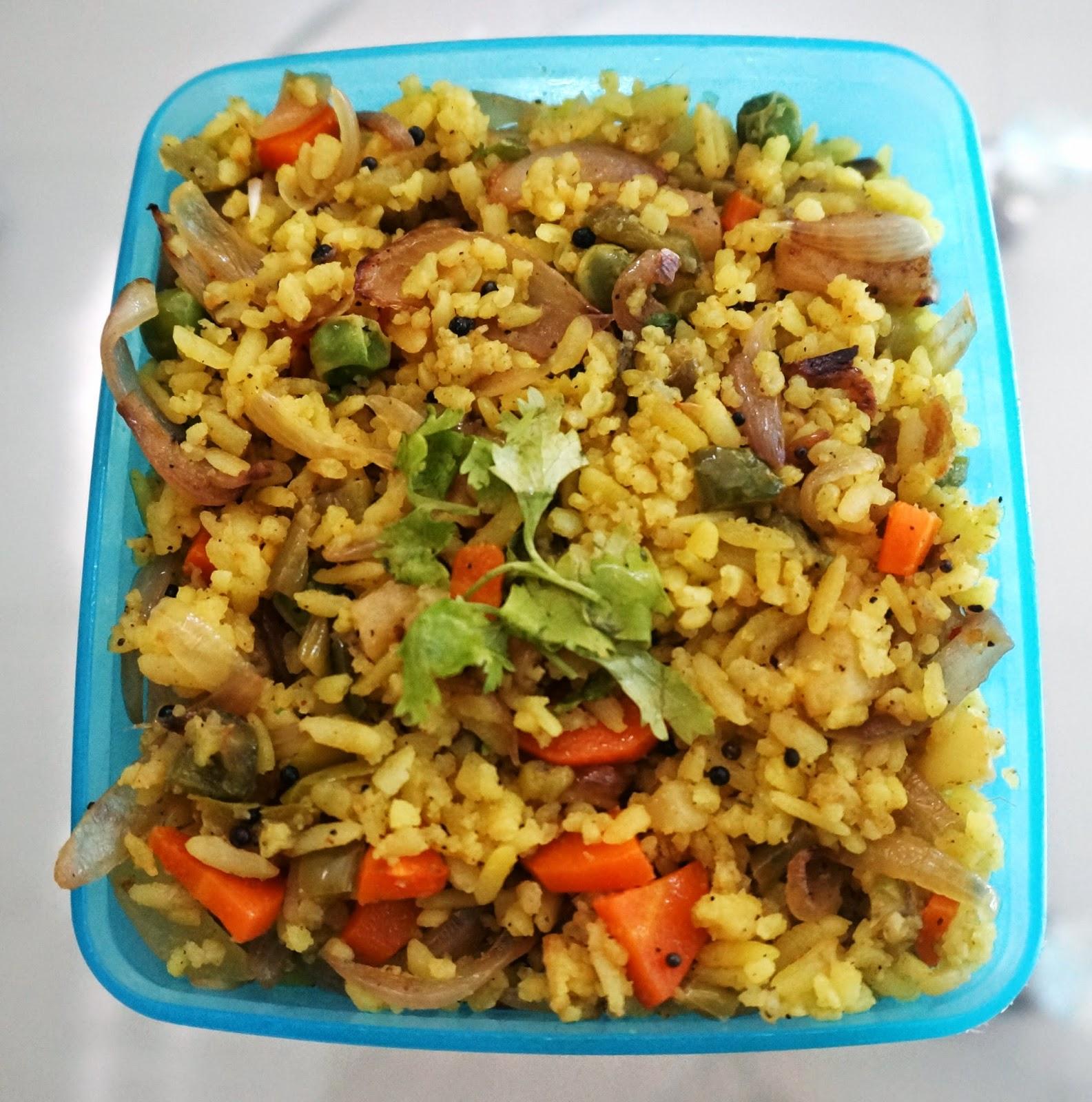Vegetable Poha | Flattened Rice Recipe