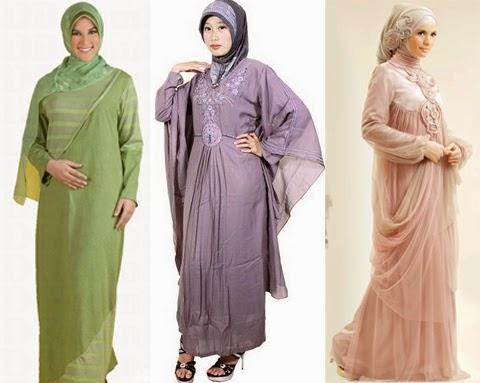 Desain Baju Gamis Pesta Bahan Sifon Untuk Orang Gemuk