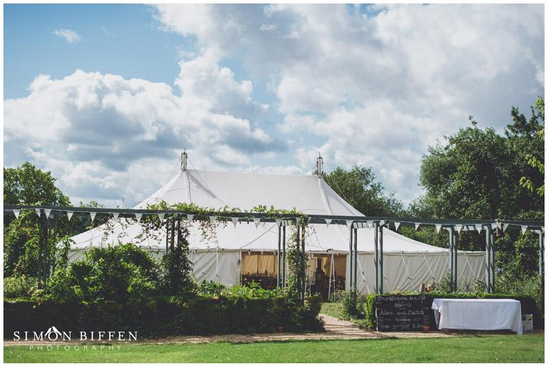 Roughmoor Farm wedding marquee