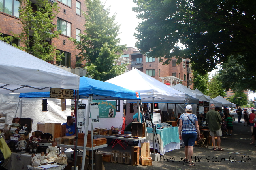 Vendors next to Heritage Place Condos at the Recycled Arts Festival 2015