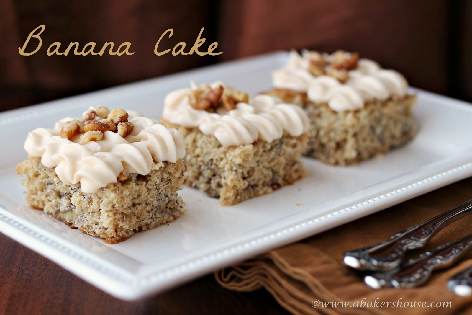 Banana Cake from #Cooking Light at A Baker's House