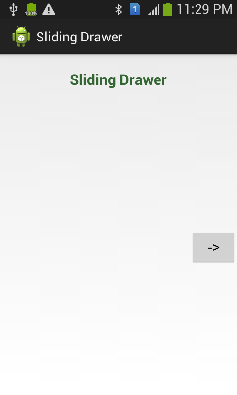 SlidingDrawer App Development