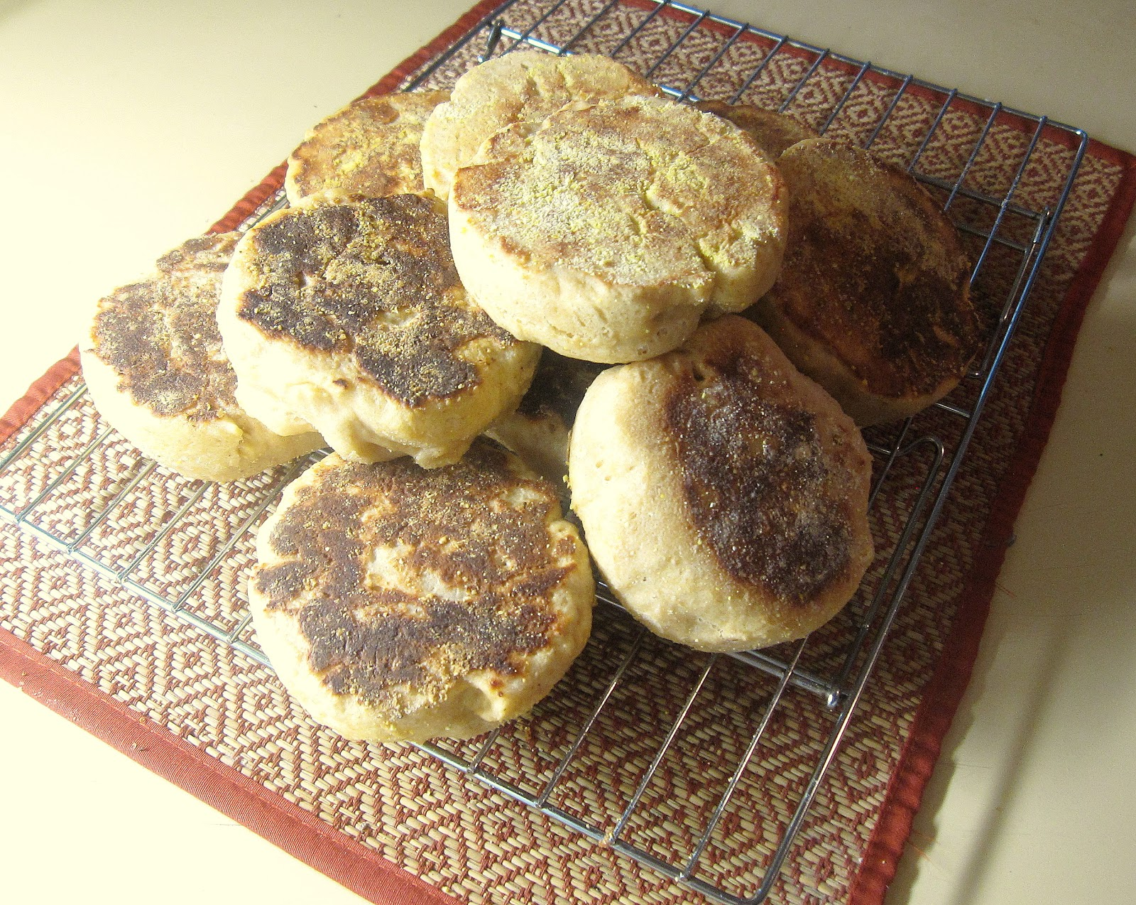 Honey-Wheat English Muffins