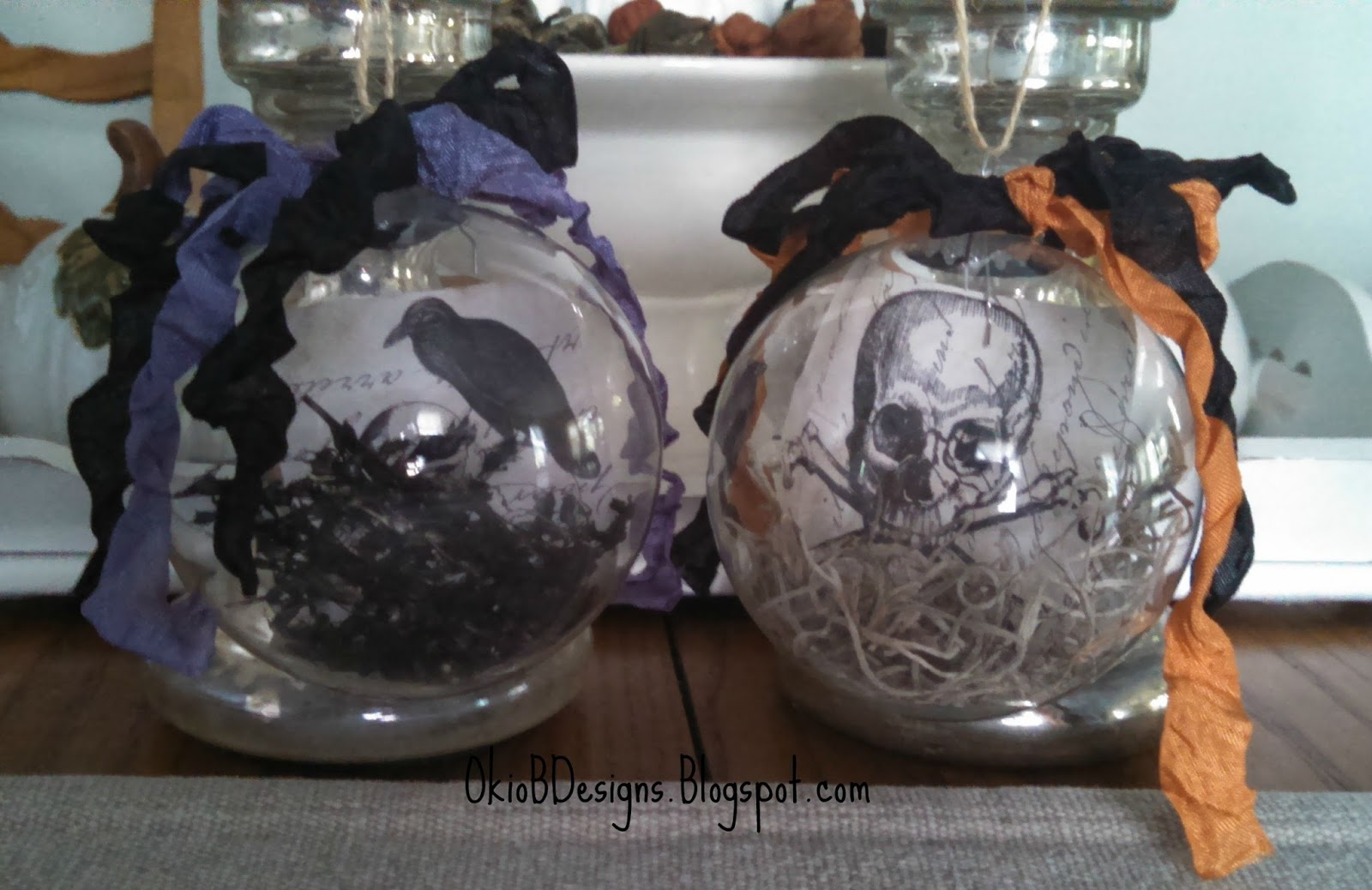 Halloween Ornaments - Okio B Designs