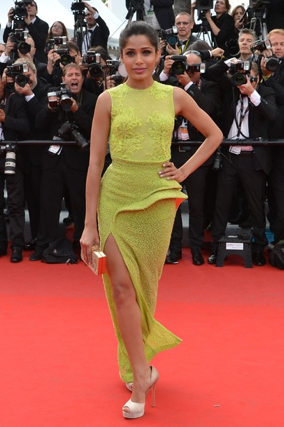 freida pinto cannes film festival glamour  images