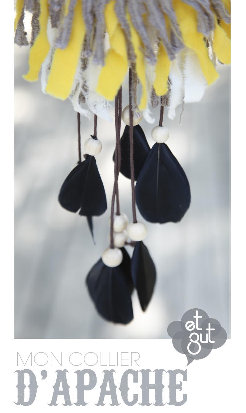 DIY collier indien franges perles plumes