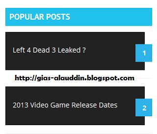 Membuat Widget Popular Posts Keren Dengan CSS