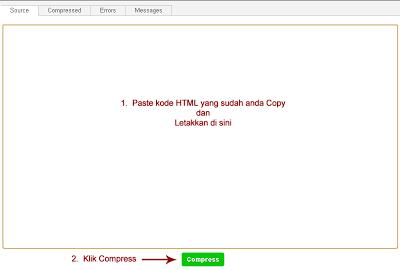 Cara Kompres Kode HTML Blog