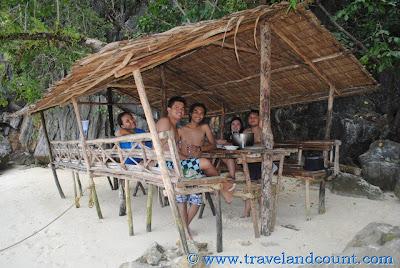 Lunch at Nipa Hut in Coron
