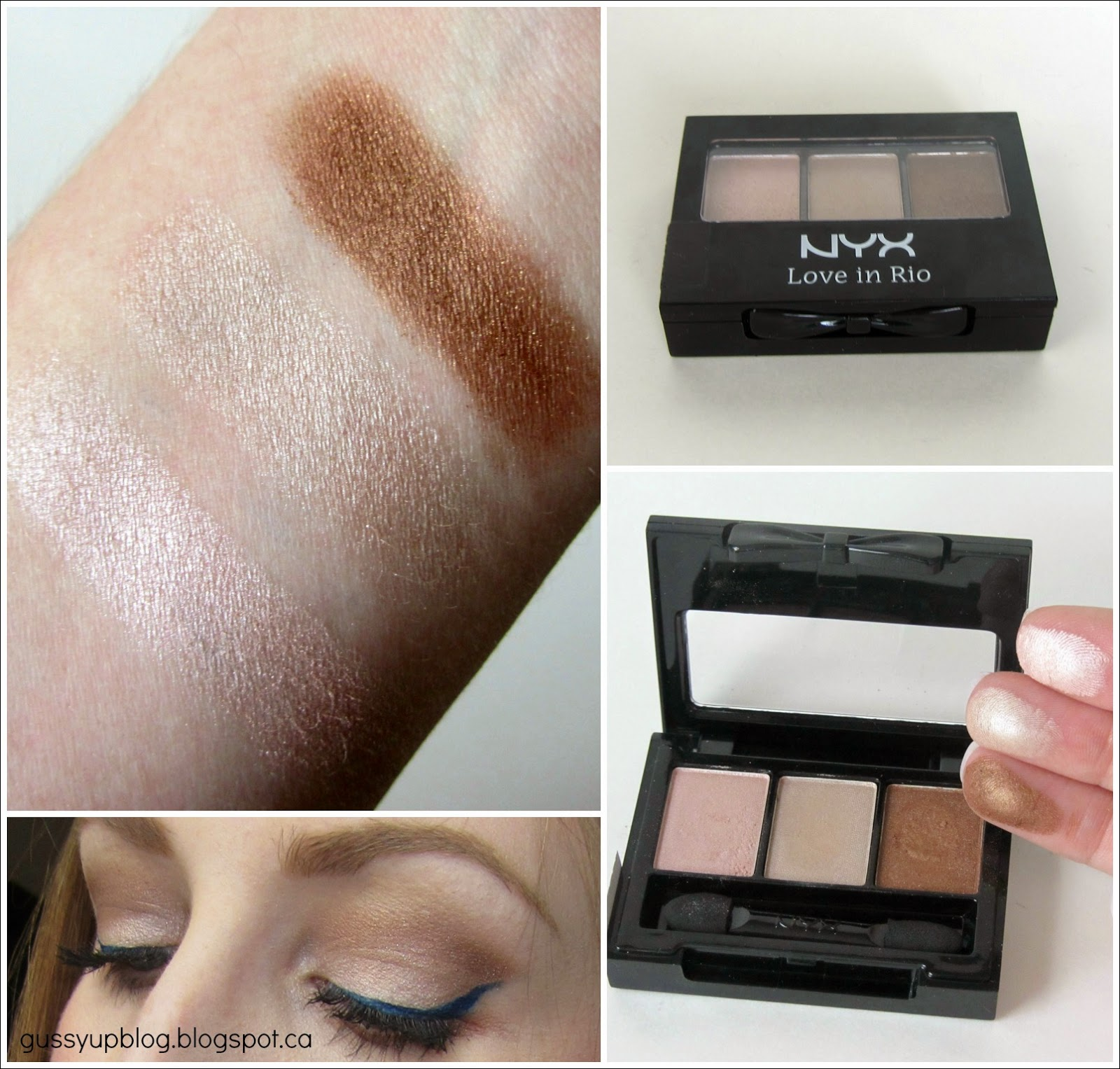 NYX Cosmetics, 3 Color Shadow Palette, Love in Rio, Review an Swatch
