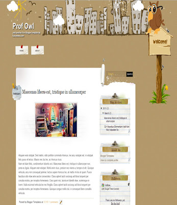 Prof Owl Blogger Template