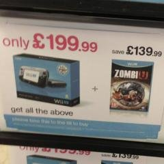 UK retailer HMV has reduced the price of the Wii U Premium Pack to £199.99. Bundle includes copy of ZombiU.