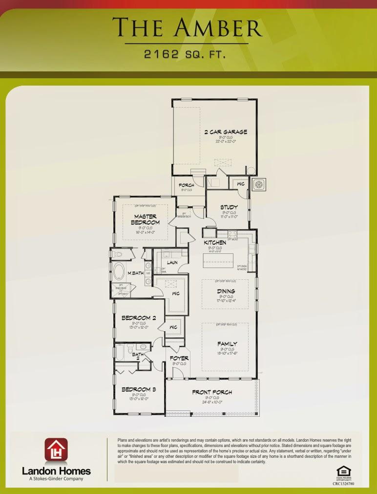 Landon homes gold award for beach haven 39 s 39 amber 39 custom for Landon homes floor plans