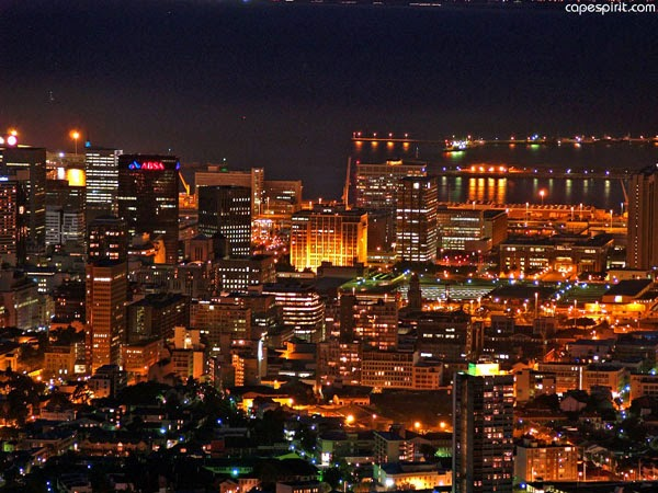 Cape town at night (South Africa)