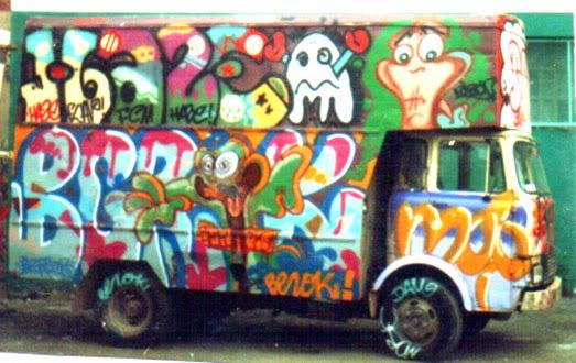 Graffitis camión Hace Movi Ribon Berok Dam