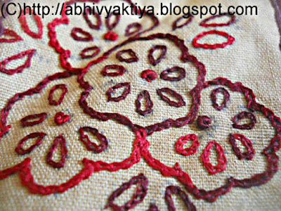 embroidery deisgn using chain stitch