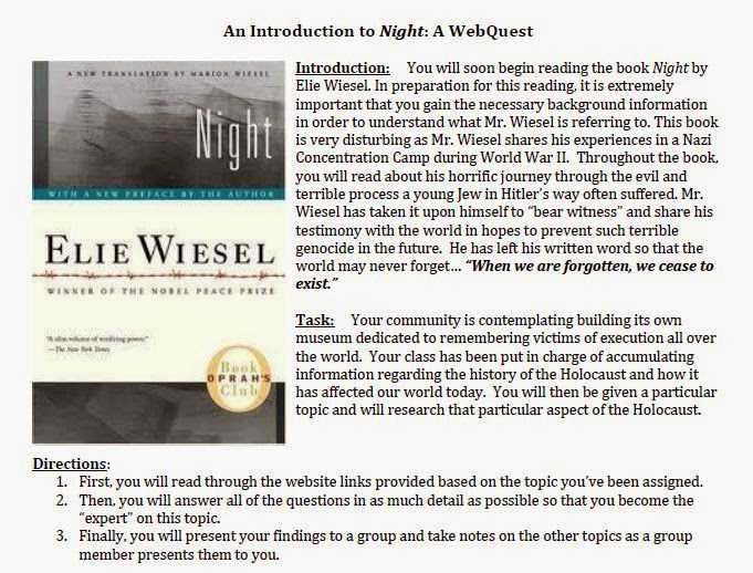 essays on night by elie wiesel