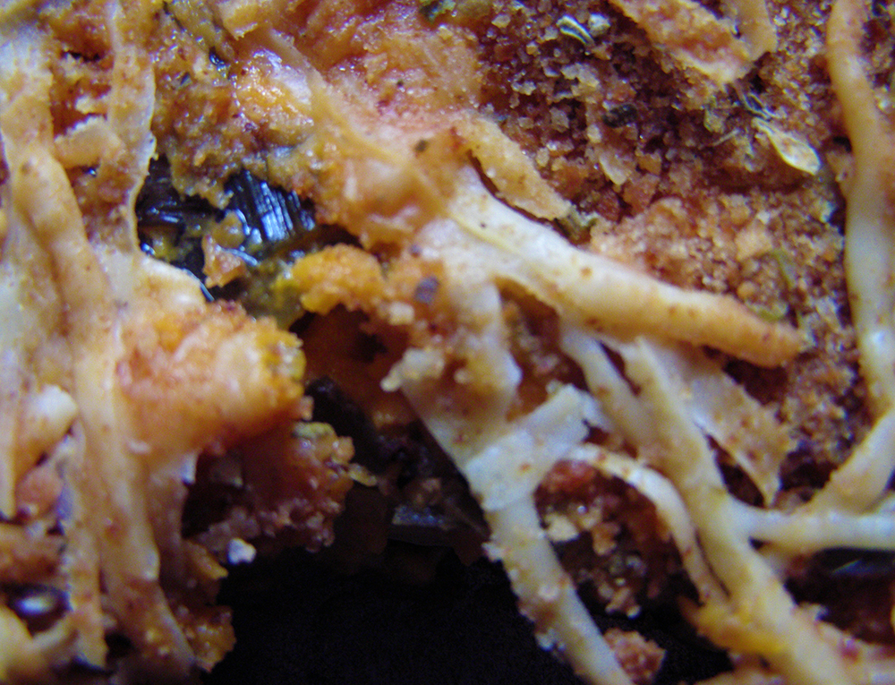 Closeup of Cheesy Leek Bake