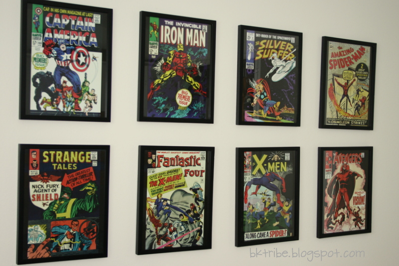 The brown eyes have it thrifty decorating my boys room - Marvel comic bedroom ideas ...