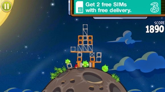 لعبة Angry birds space